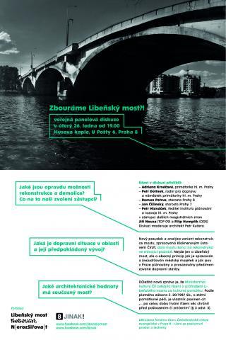 Pozvánka na debatu o Libeňském mostu 26. 1. 2016
