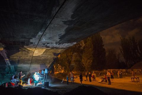 Zažít Libeň jinak 2015 na Libeňském mostě